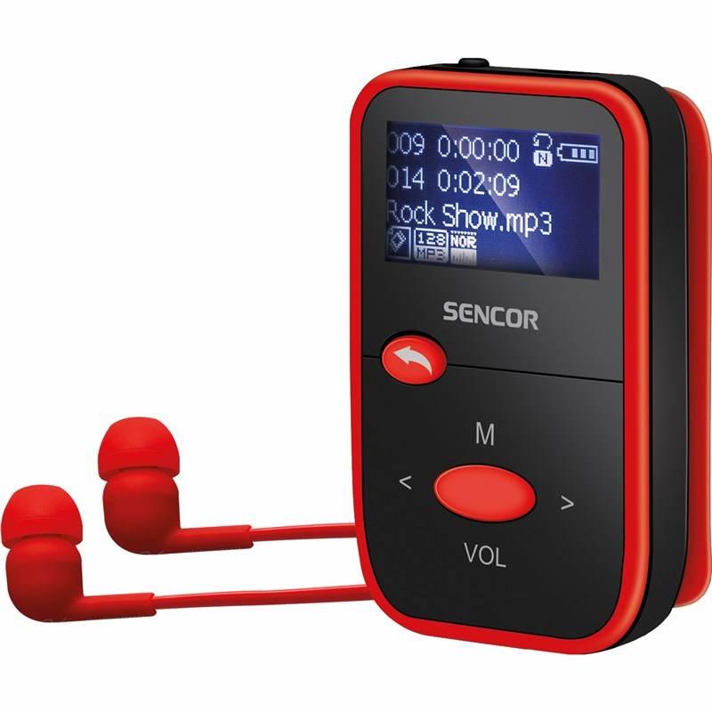MP3 prehrávač Sencor SFP 4408 RD čierny/červený