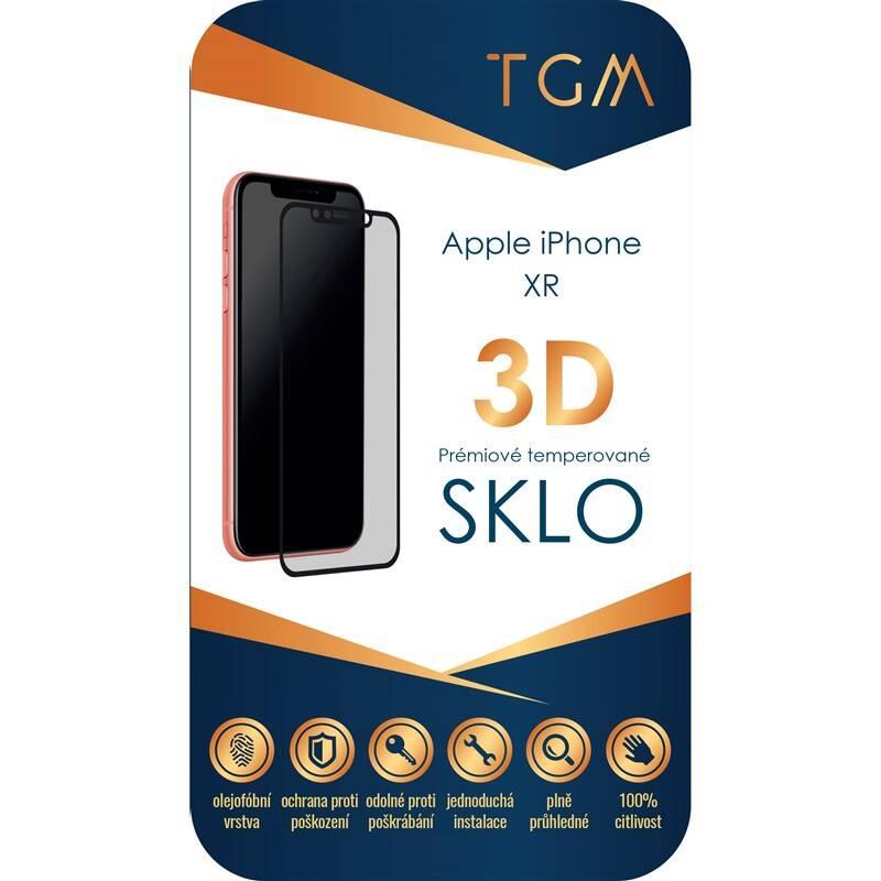 Ochranné sklo TGM 3D pro Apple iPhone XR (TGM3DAPIPXRBK) černé