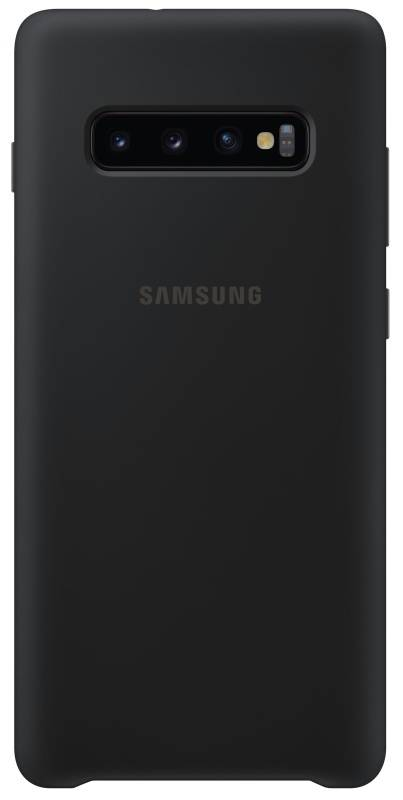 Kryt na mobil Samsung Silicon Cover pro Galaxy S10+ (EF-PG975TBEGWW) čierny