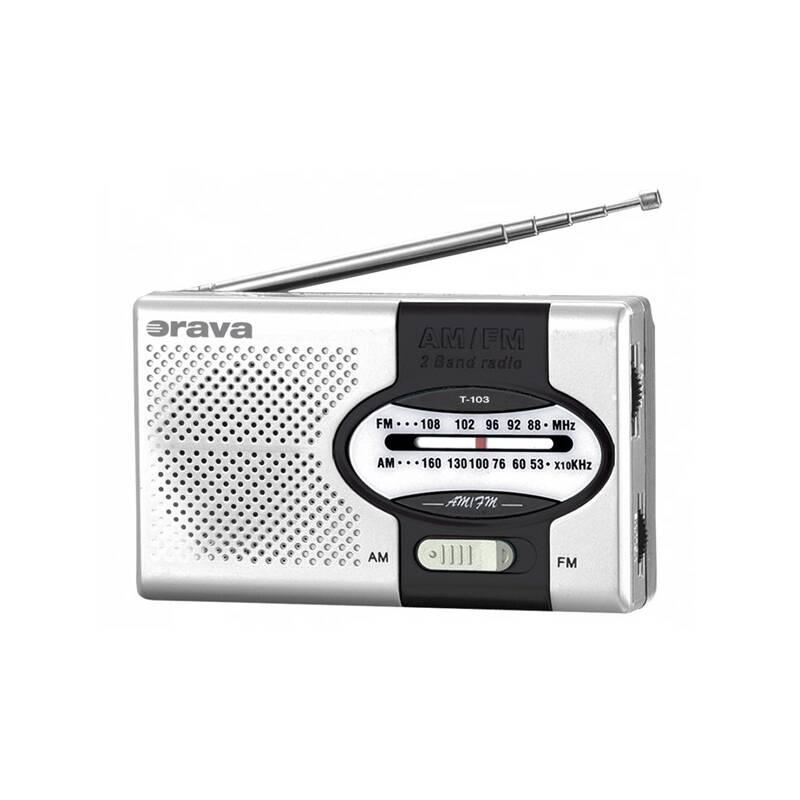 Radiopřijímač Orava T-103 černý/stříbrný