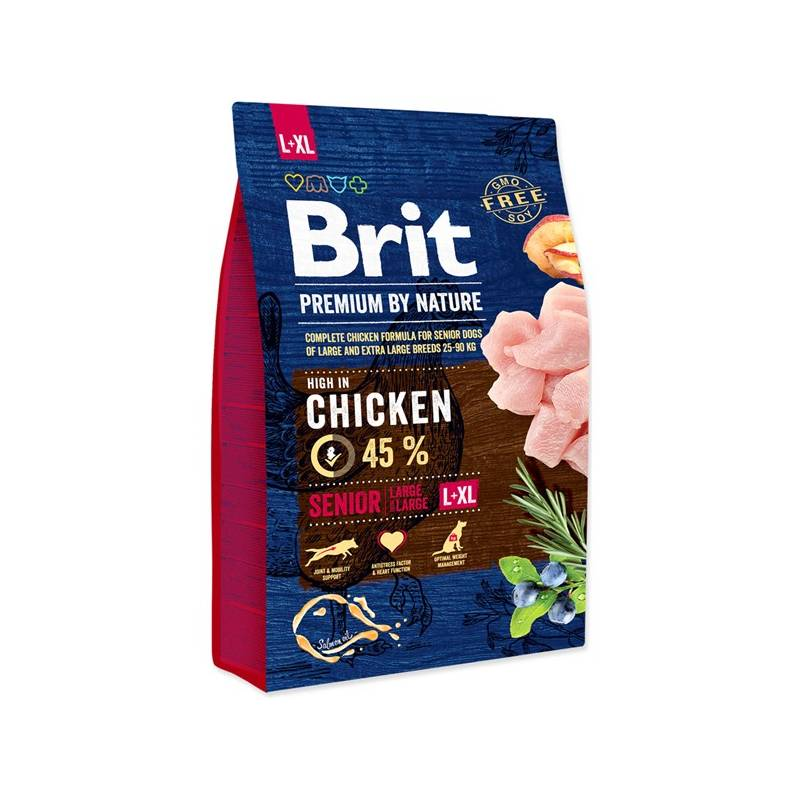 Granule Brit Premium Dog by Nature Senior L+XL 3 kg