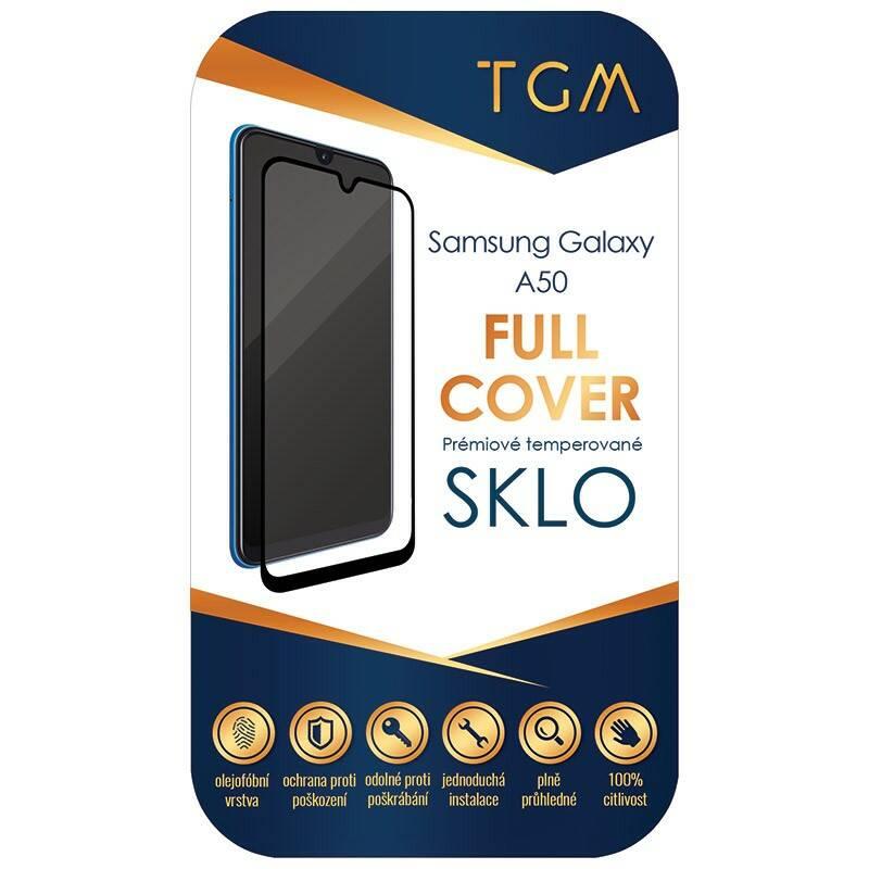 Ochranné sklo TGM Full Cover pro Samsung Galaxy A50 (TGMSGA50BK) čierne