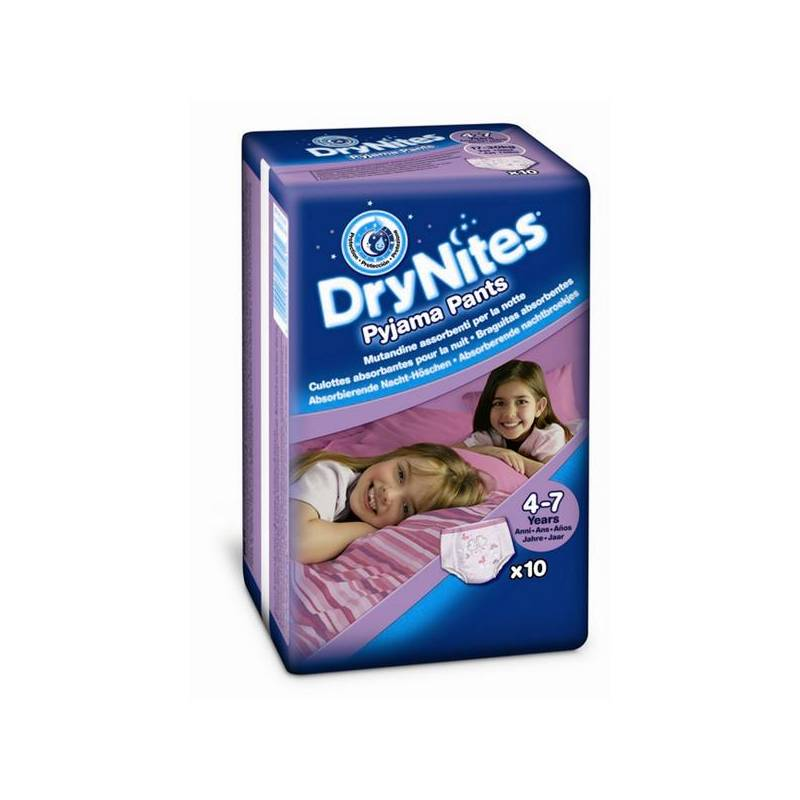 Plienkové nohavičky Huggies Dry Nites Medium - Girls 17-30 kg, 10 ks