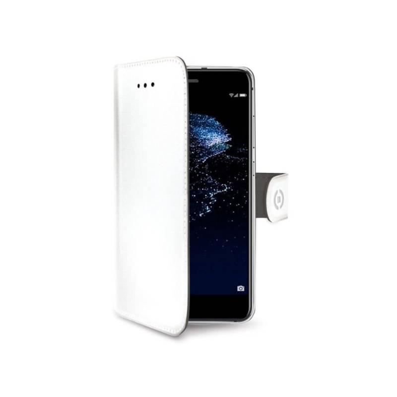 Puzdro na mobil flipové Celly Wally pro Huawei P10 Lite (WALLY648WH) biele