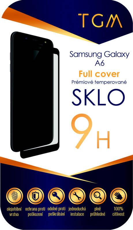 Ochranné sklo TGM Full Cover pro Samsung Galaxy A6 (TGMSGA6BL) čierne