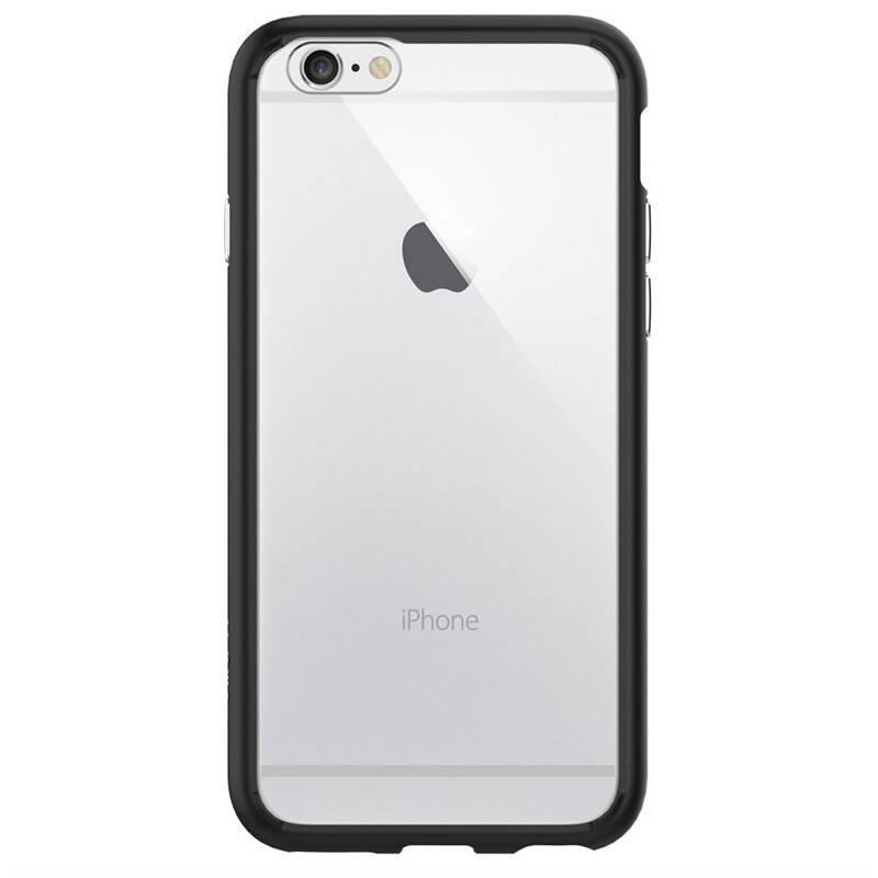 Kryt na mobil Spigen Ultra Hybrid na Apple iPhone 6/6s (SGP11600) čierny/priehľadný