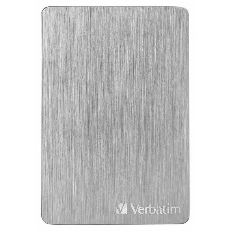 Externý pevný disk Verbatim Store 'n' Go ALU Slim 2TB USB 3.2 (53666) strieborný