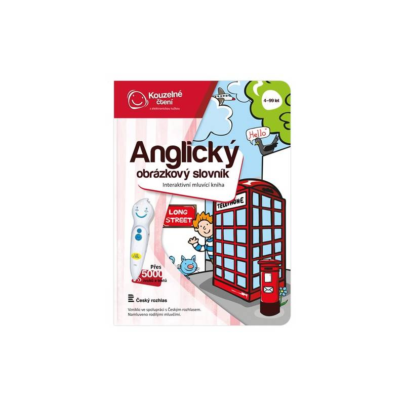 Kúzelné čítanie Albi Kniha Anglický obrázkový slovník
