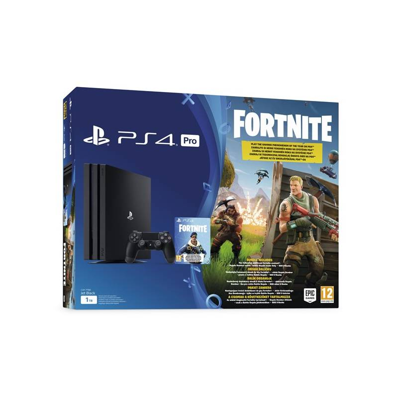 Herná konzola Sony PlayStation 4 PRO 1TB + hra FORTNITE voucher (PS719723714) čierny