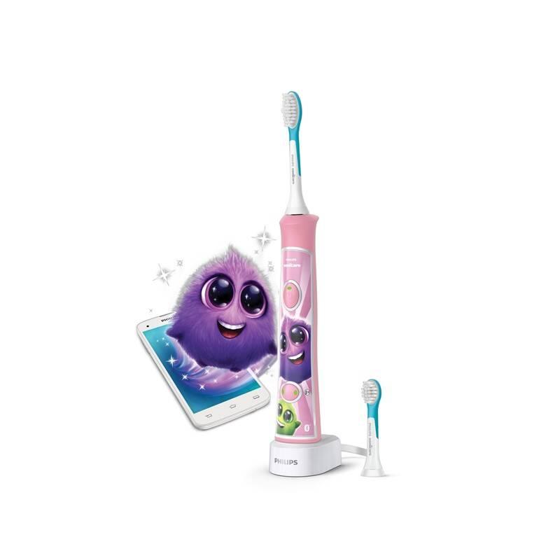 Zubná kefka Philips Sonicare For Kids HX6352/42 ružový