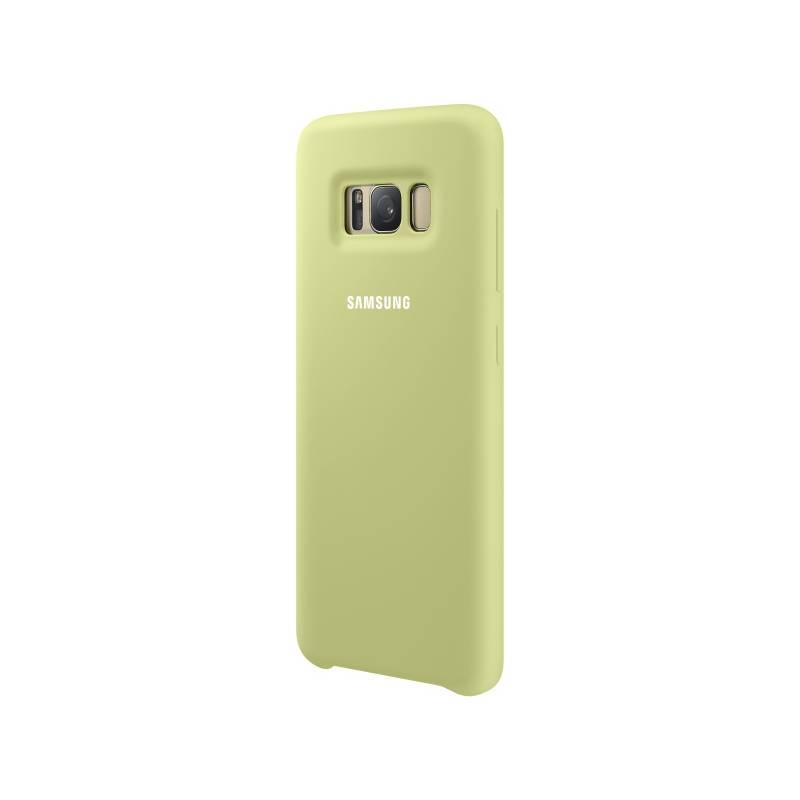 Kryt na mobil Samsung Silicon Cover pro Galaxy S8+ (EF-PG955T) (EF-PG955TGEGWW) zelený