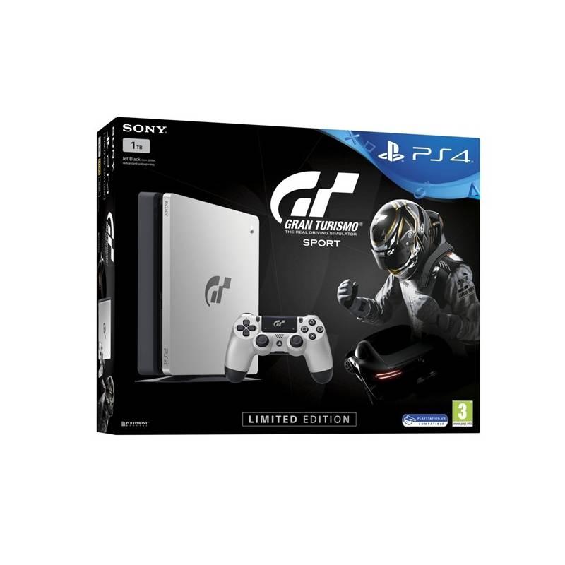 Herná konzola Sony PlayStation 4 SLIM 1TB + Gran Turismo Sport Speciální edice + PS Plus 14 dní (PS719909767) čierna/strieborná + Doprava zadarmo