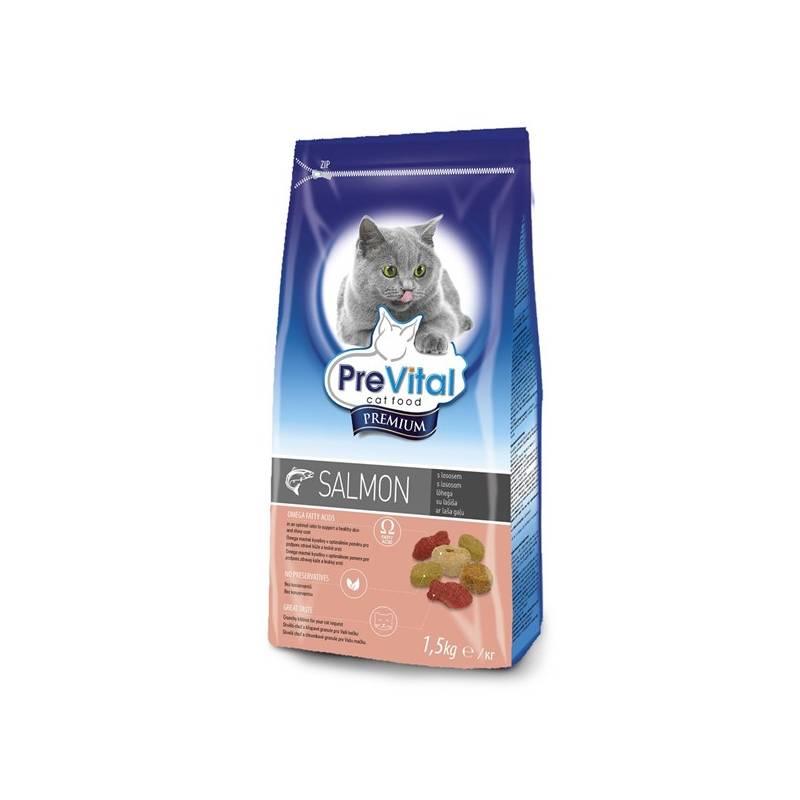 Granule PreVital Premium pro kočky s lososem 1,5 kg