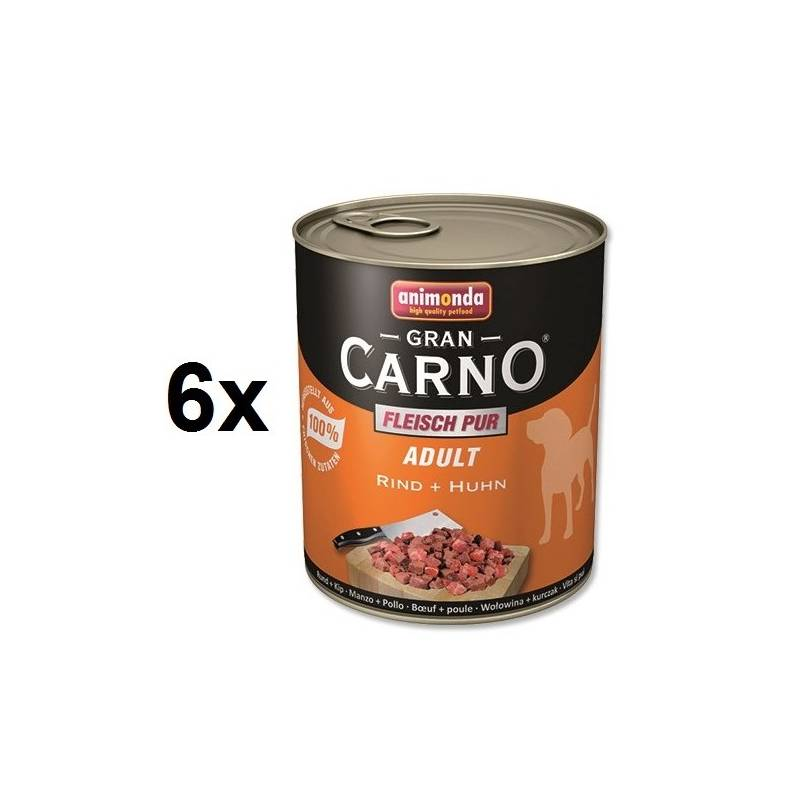 Konzerva Animonda Adult Gran Carno hovädzie + kurča 6 x 800g
