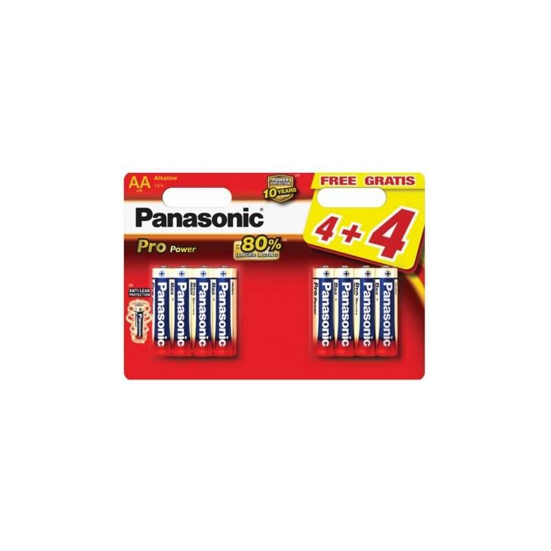 Batéria alkalická Panasonic Pro Power AA, 4+4 ks (LR6PPG/8BW)