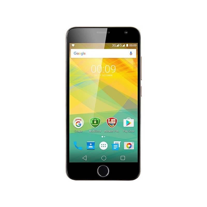 Mobilní telefon Prestigio Grace R7, zlatá (PSP7501DUOGOLD) zlatý