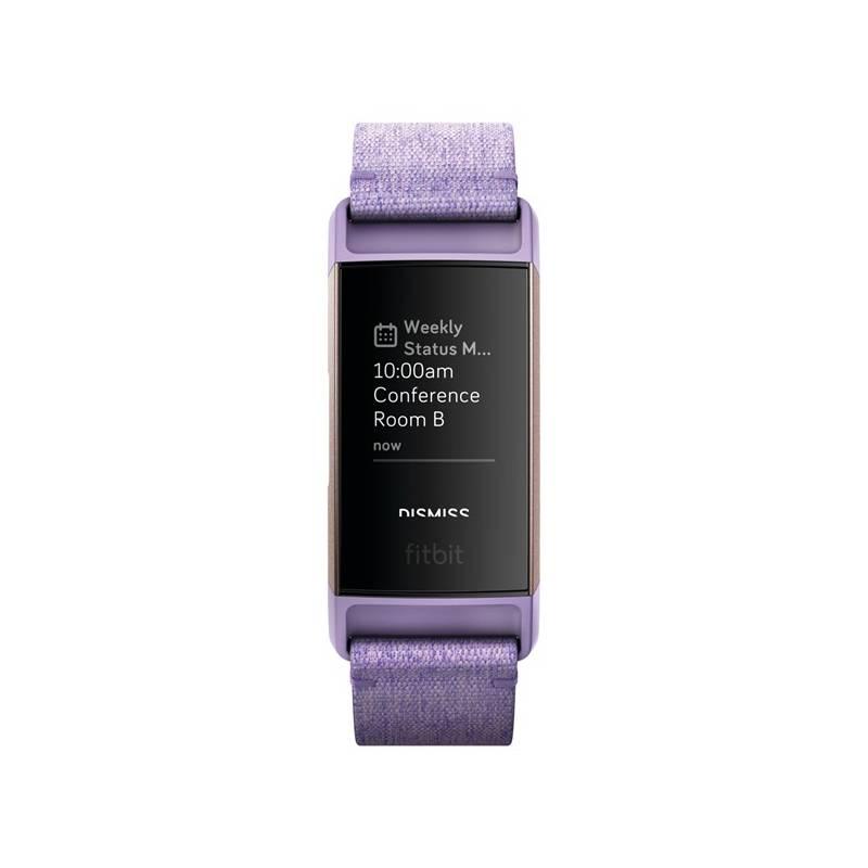 Fitness náramok Fitbit Charge 3 speciální edice (NFC) - Lavender Woven (FB410RGLV-EU)