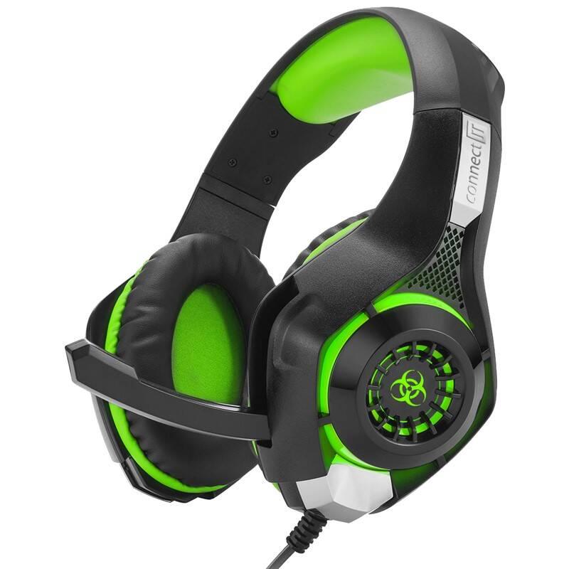 Headset Connect IT Biohazard CHP-4510 (CHP-4510-GR) čierny/zelený