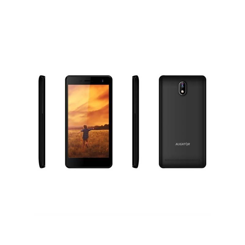Mobilný telefón Aligator S5065 Dual SIM (AS5065BK) čierny