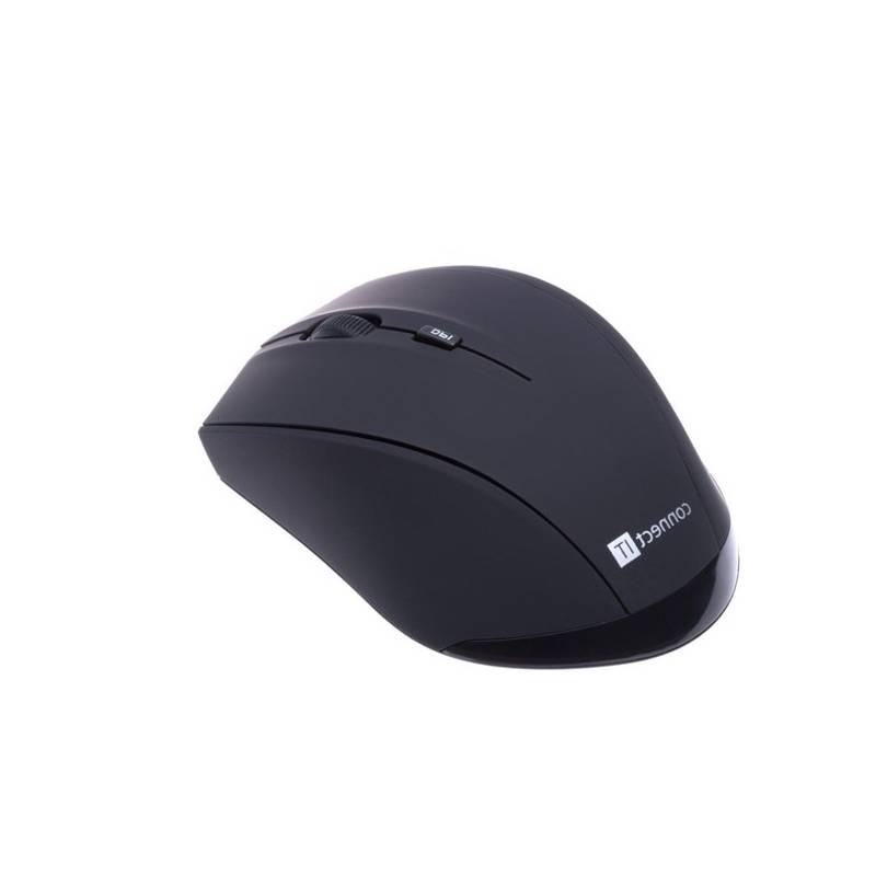 Myš Connect IT Travel s pouzdrem (CI-457) čierna