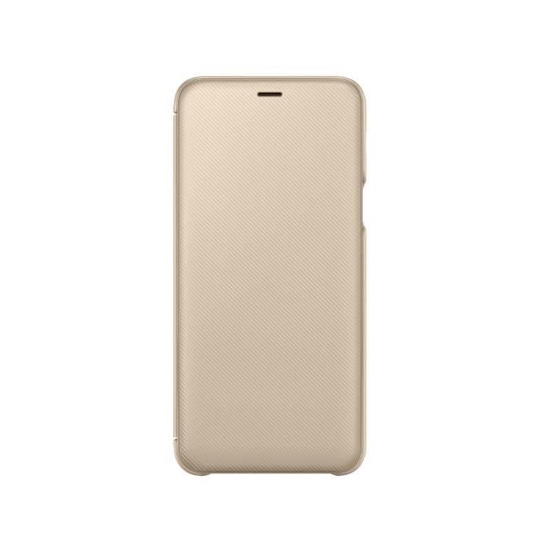 Puzdro na mobil flipové Samsung Wallet Cover pro Galaxy A6+ (EF-WA605CFEGWW) zlaté