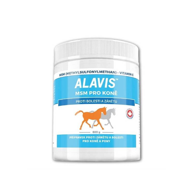 Prášok Alavis MSM 600g pro koně s Vitaminem C