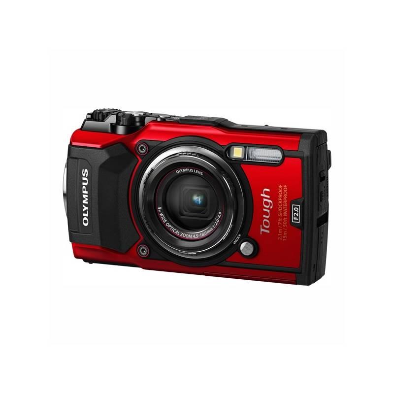 Digitální fotoaparát Olympus TG-5 (4545350051112) červený