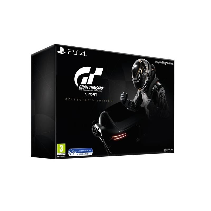 Hra Sony PlayStation 4 Gran Turismo Sport + Digitální bonusový balíček + zlatá SteelBook krabička + Model Mercedes Benz AMG GT + Brožura (PS719879855)