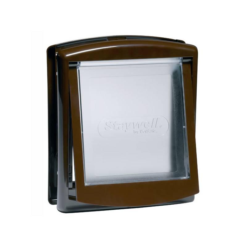 Dvierka Staywell s transparentním flapem 755 - hnědé