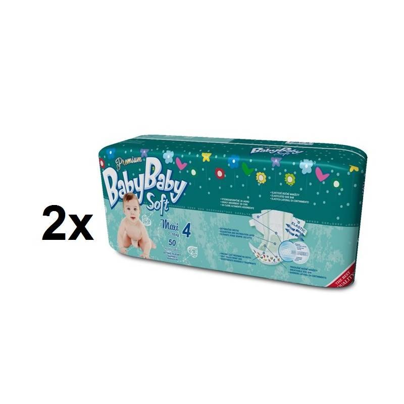 Plienky BabyBaby Soft Premium MAXI 100 ks - 7-18kg zelená