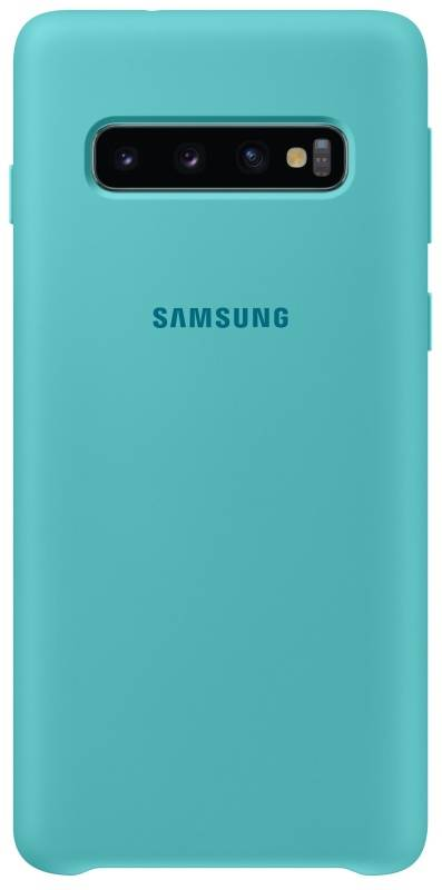 Kryt na mobil Samsung Silicon Cover pro Galaxy S10 (EF-PG973TGEGWW) zelený