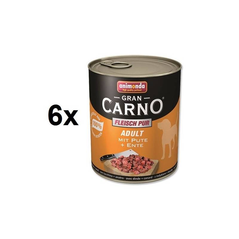Konzerva Animonda Adult Gran Carno morka + kačka 6 x 800g