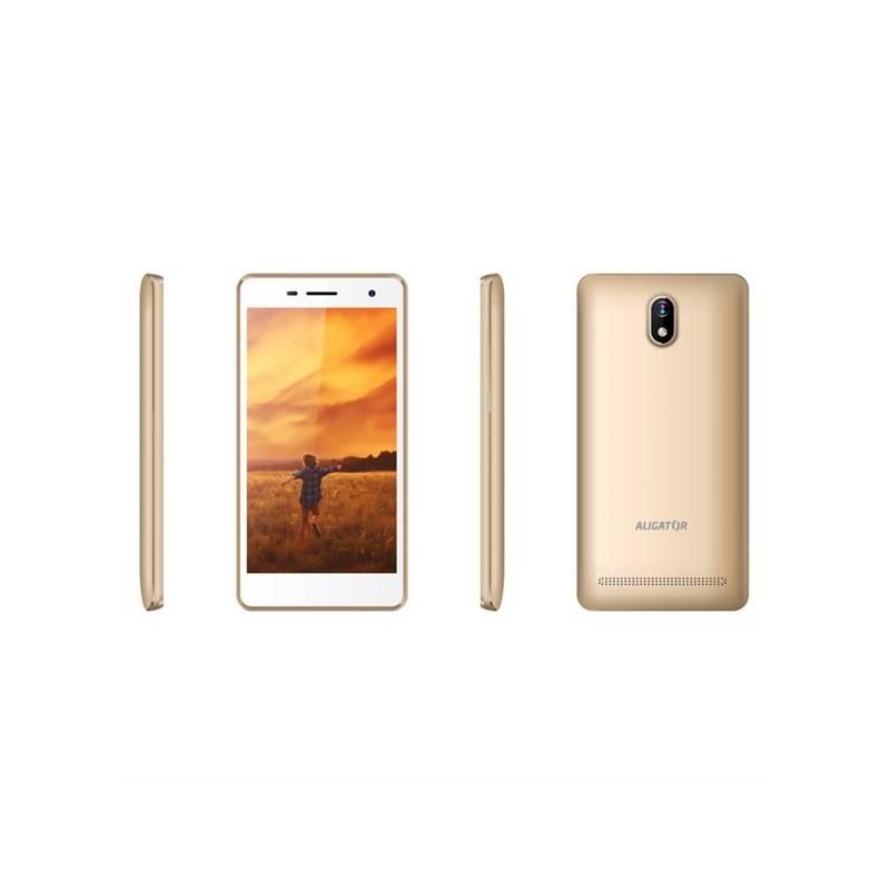 Mobilný telefón Aligator S5065 Dual SIM (AS5065GD) zlatý