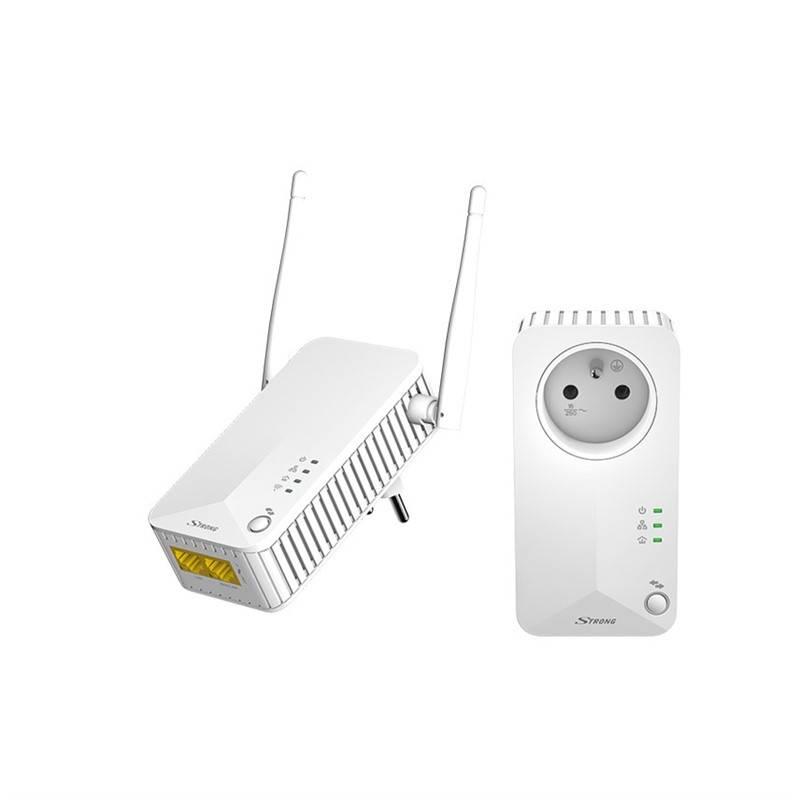 Sieťový rozvod LAN po 230V Strong Powerline WF 500 DUO (POWERLWF500DUOFR) biely