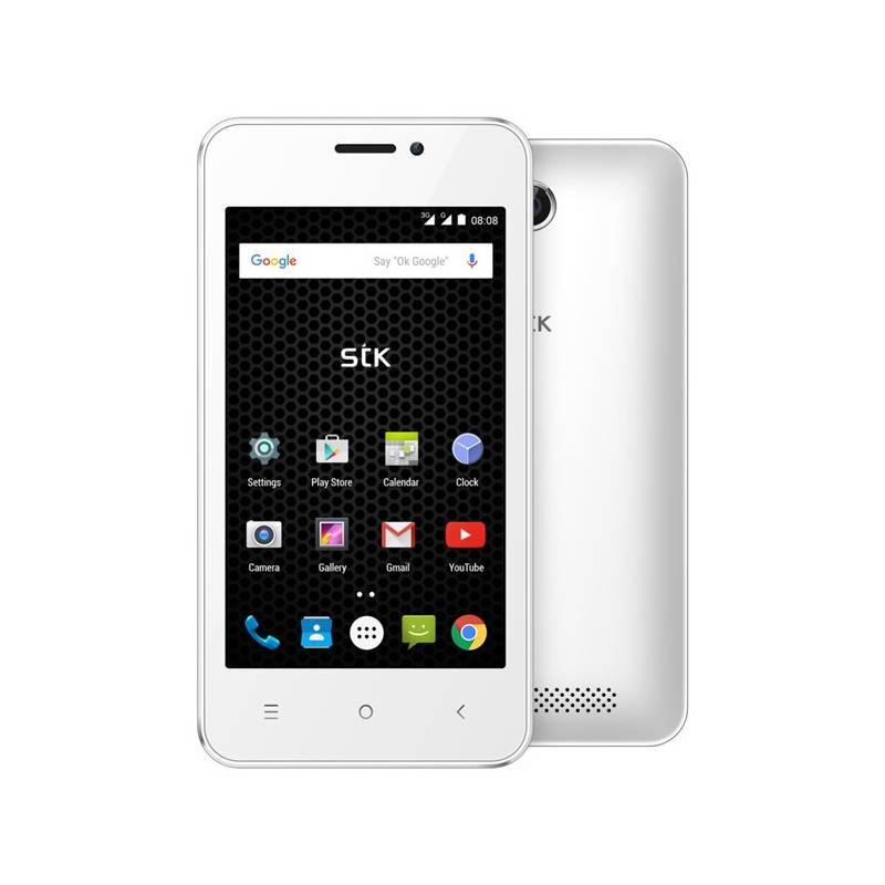Mobilný telefón STK Storm 2e Plus Dual SIM biely
