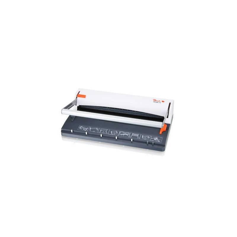 Viazač Peach PB300-15 Wire Binder, manuální, s děrovačem (PB300-15) biely