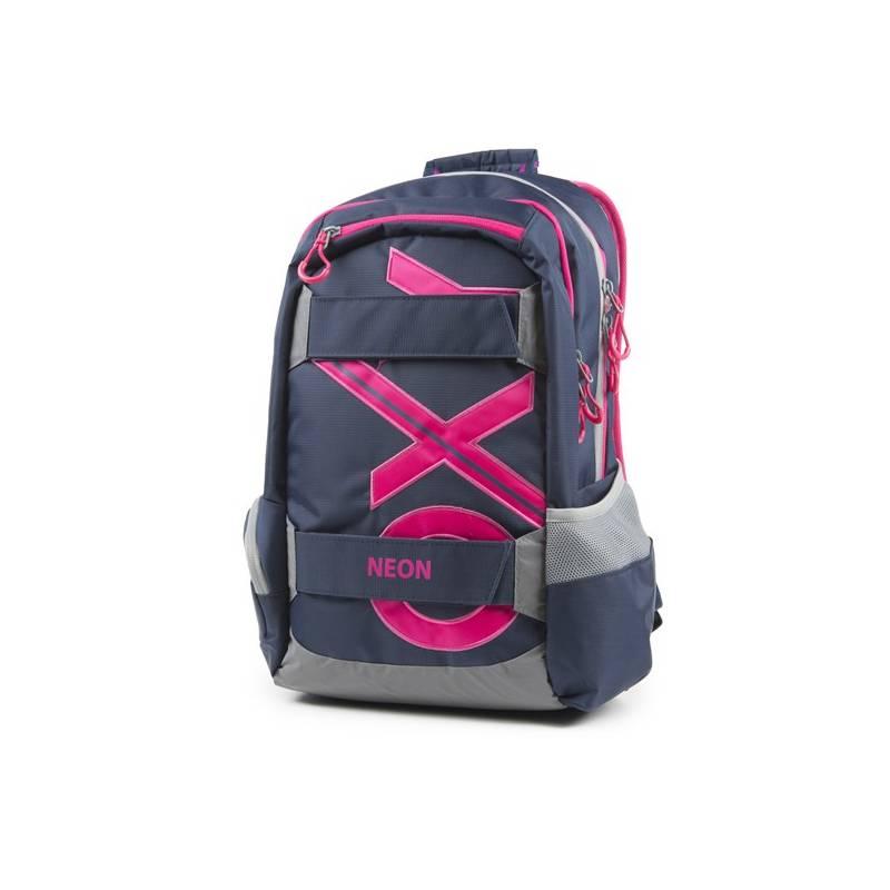 Batoh školský P + P Karton OXY Sport Blue Line Pink študentský Sáček na přezůvky P + P Karton OXY Neon Dark Blue (zdarma)