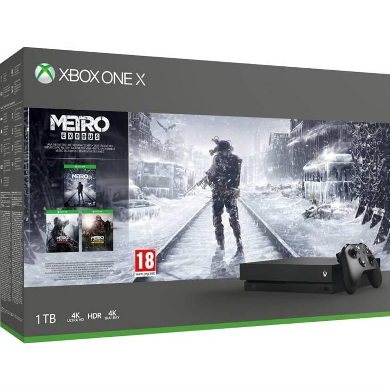 Herní konzole Microsoft Xbox One X 1 TB + Metro Exodus (CYV-00288)