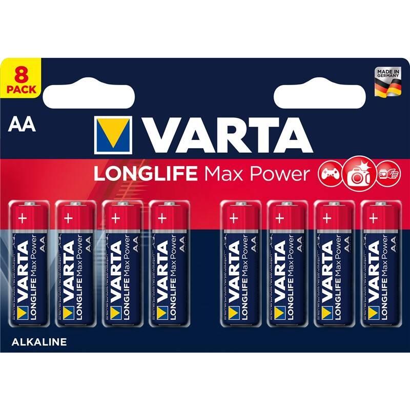 Batéria alkalická Varta Longlife Max Power AA, LR06, blistr 8ks (4706101418)