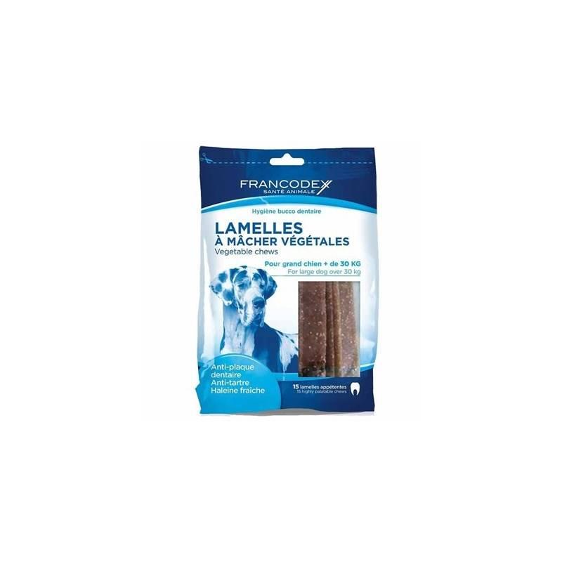 Pochúťka Francodex Weggy žvýkací plátky L pes 490g 15 ks