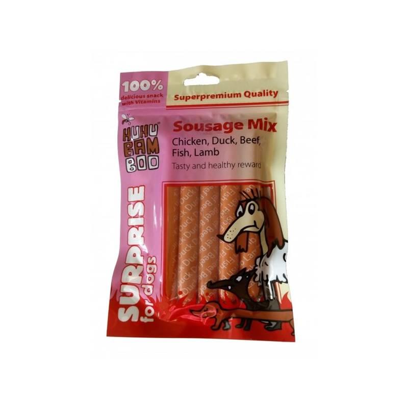 Pamlsok Huhubamboo Excellent párečky 5 druhu masa 125g