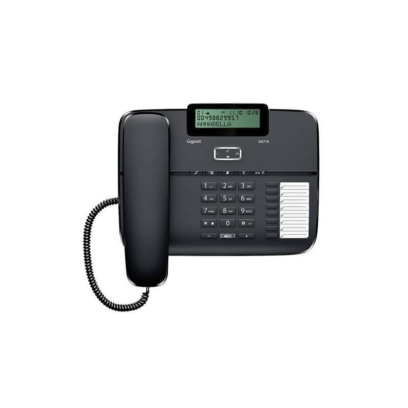 Domáci telefón Siemens Gigaset DA710 (S30350-S213-R601) čierny
