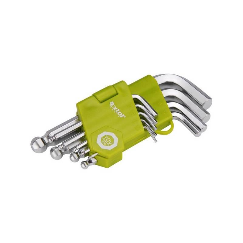 Sada kľúčov EXTOL CRAFT 66000, L-klíče, krátké, 9 ks ocel