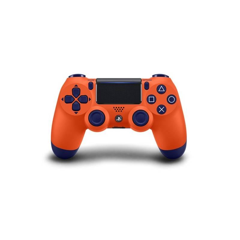 Gamepad Sony Dual Shock 4 pro PS4 v2 - oranžový (PS719873969)