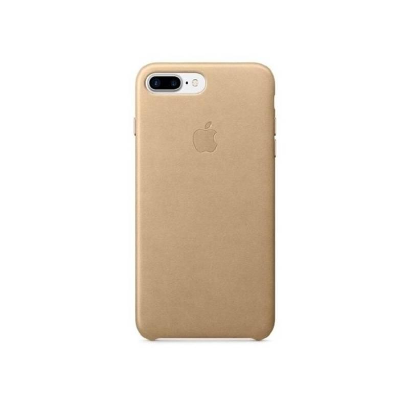 Puzdro na mobil flipové Apple Leather Case pro iPhone 8 Plus   7 Plus -  žlutohnědý 511a8878420