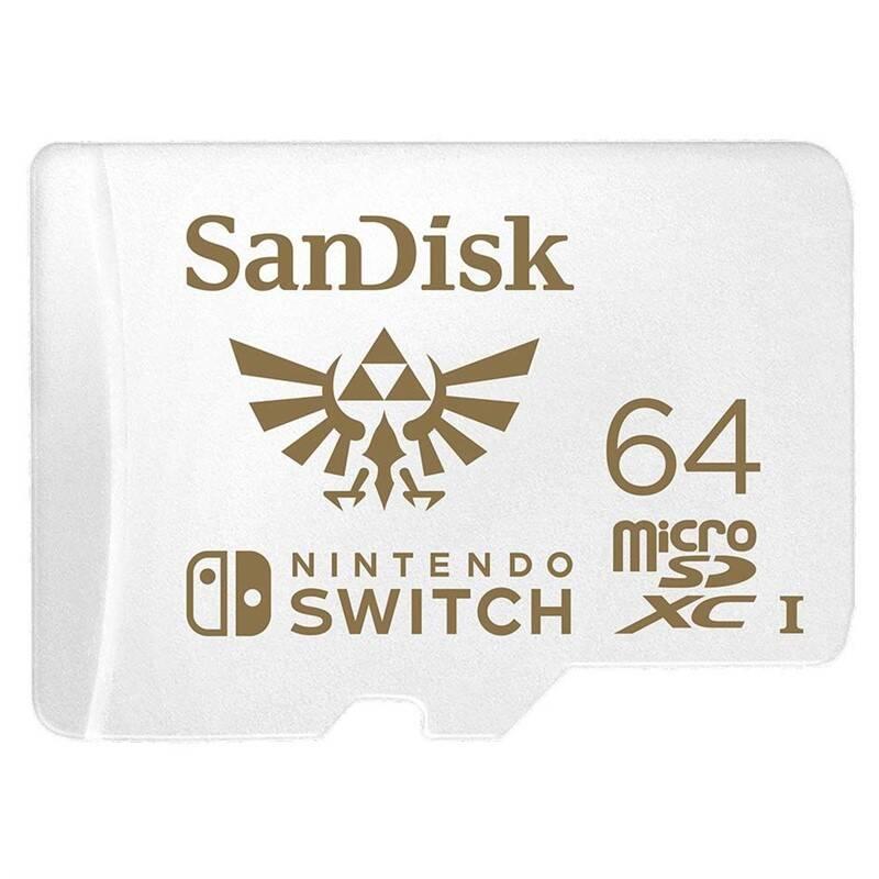 Pamäťová karta SanDisk Micro SDXC 64GB UHS-I U3 (V30) pro Nintendo Switch (100R/60W) (SDSQXAT-064G-GNCZN)