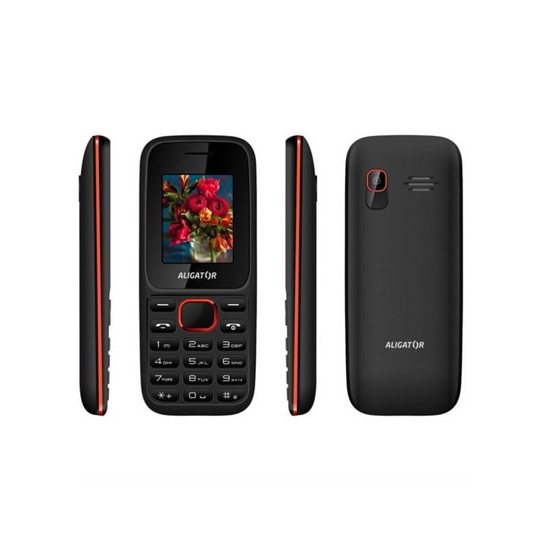 Mobilný telefón Aligator D200 Dual Sim (AD200BR) čierny/červený