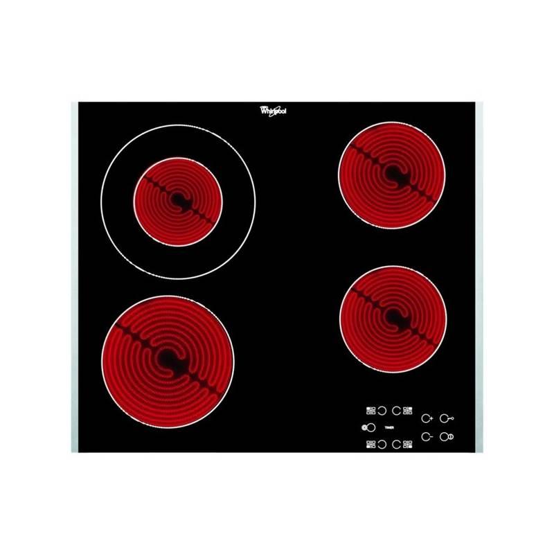 Sklokeramická varná doska Whirlpool AKT 8130/LX čierna