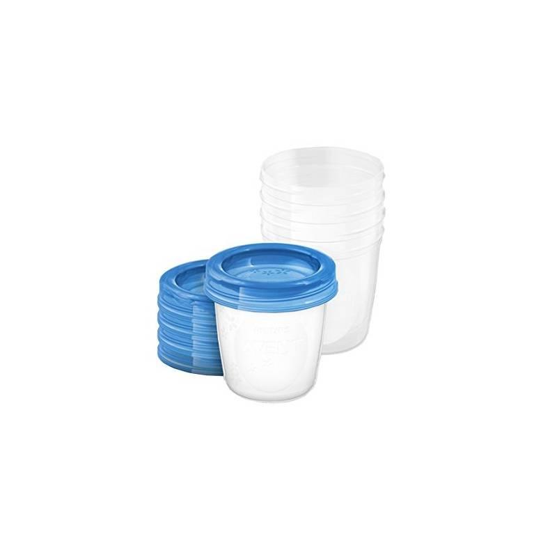 VIA poháriky Philips AVENT 180ml, 5ks modré/priehľadné