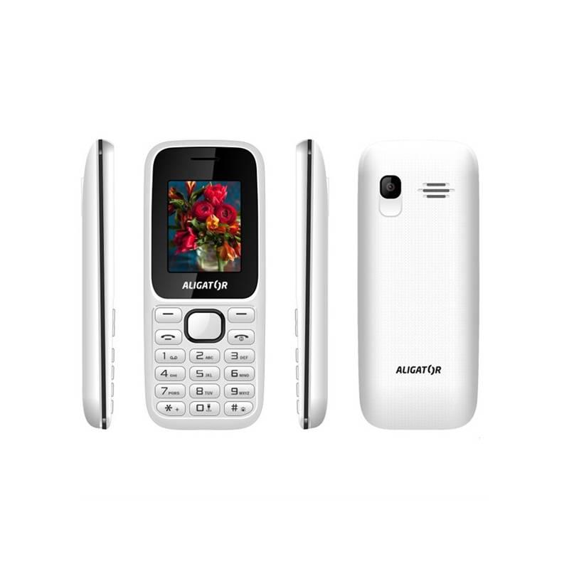 Mobilný telefón Aligator D200 Dual Sim (AD200WB) čierny/biely